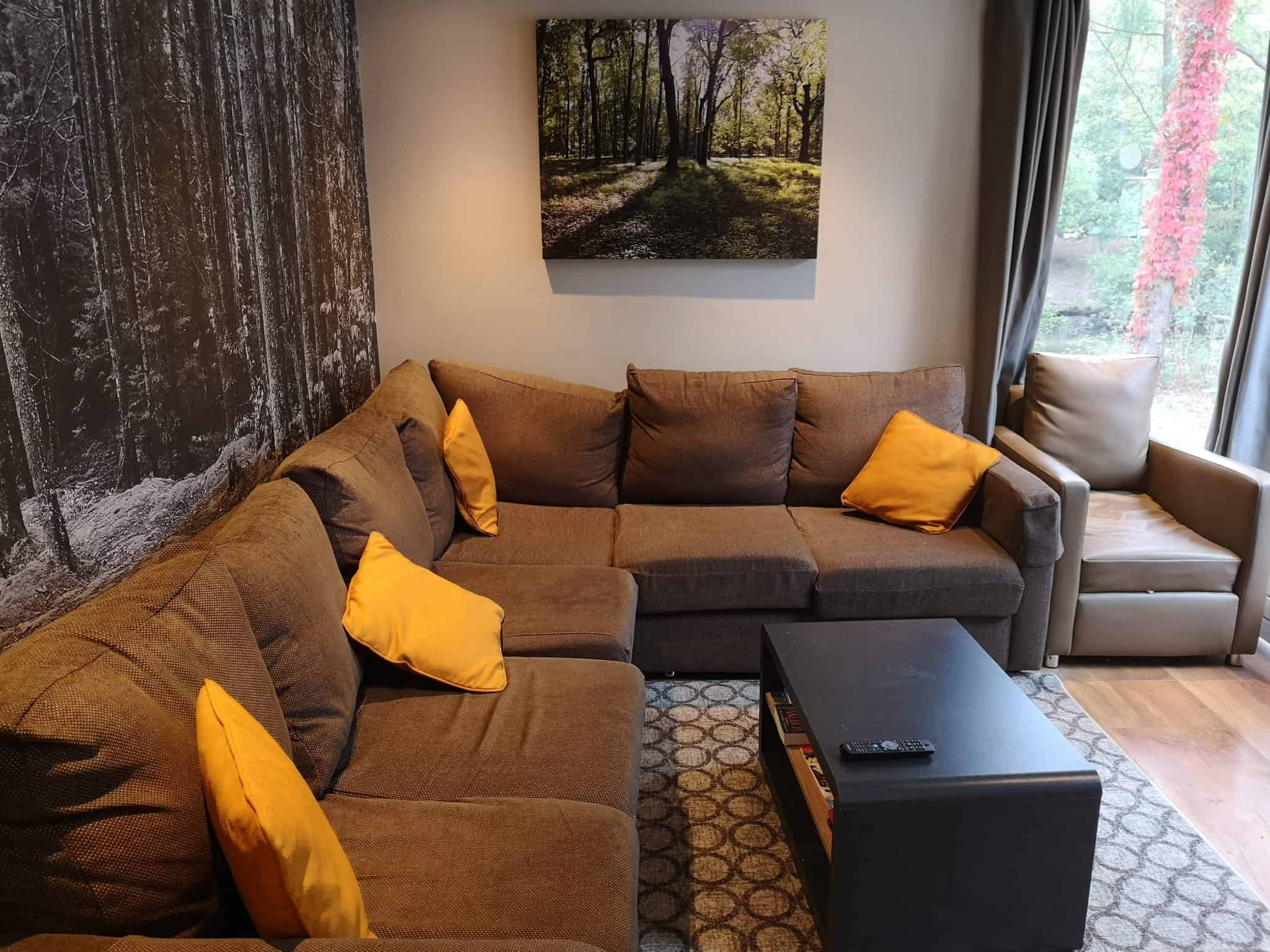 Center Parcs 3 Bedroom New Woodland Lodge living area