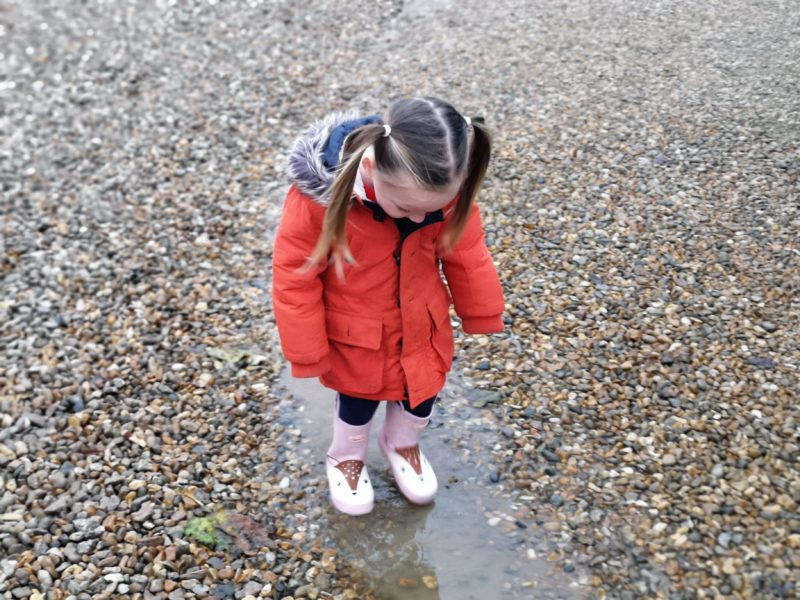Erin wearing Dillon deer wellies