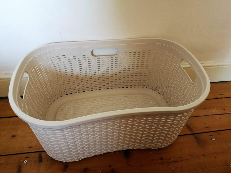 rattan effect laundry basket