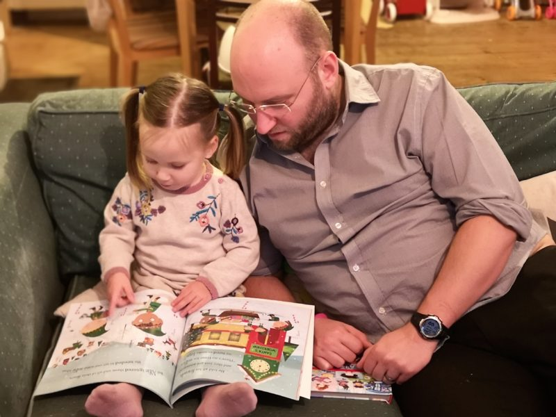 Erin and Daddy reading
