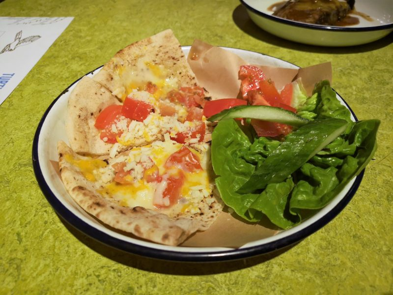 Turtle Bay Cheese and Tomato Flatbread