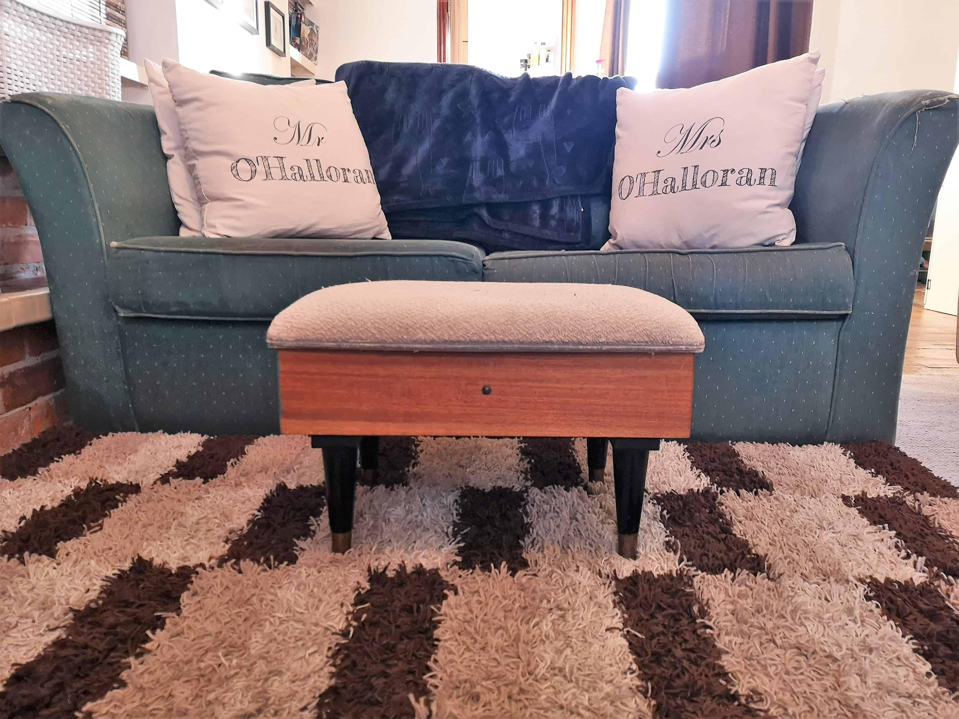 Vintage sewing stool