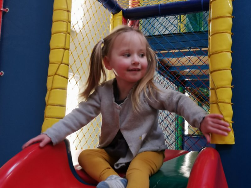 Erin at soft play