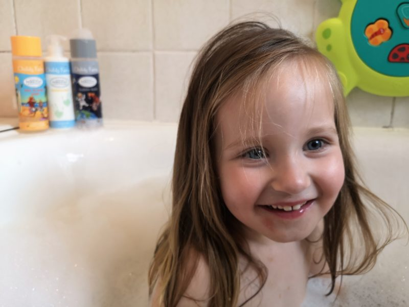 Erin in the bath