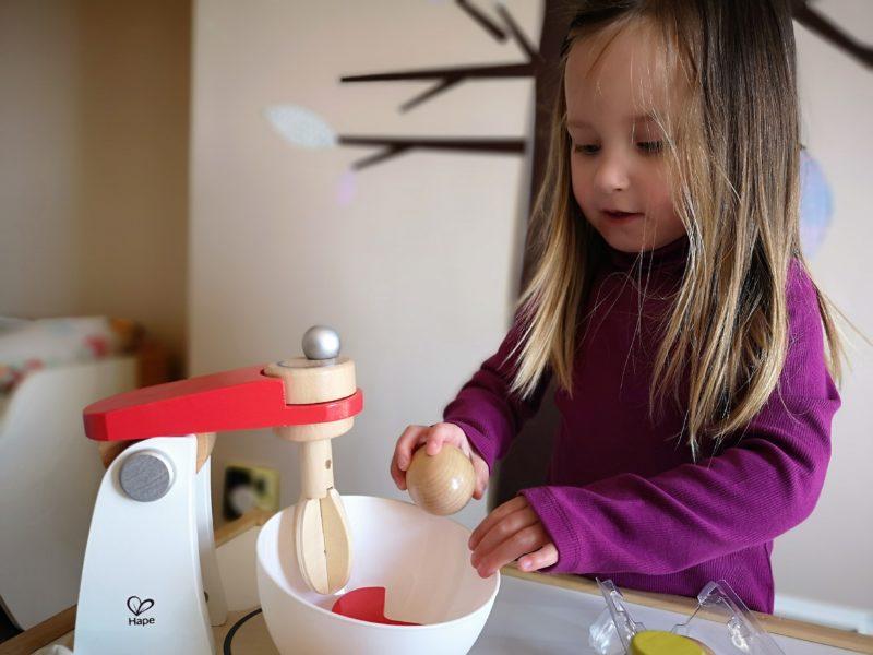 Erin baking a cake