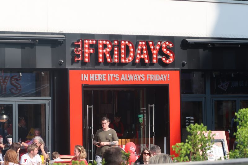 Family Dining At TGI Friday's Leicester Square